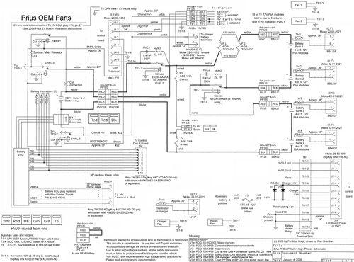 2003 Toyota Prius Hybrid Wiring Diagram - Wiring Diagrams Folder on